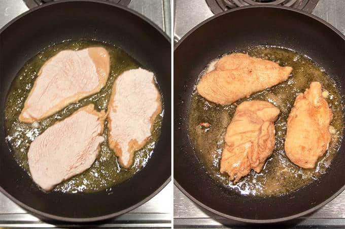 Cooking the Chicken for the Chicken Marsala