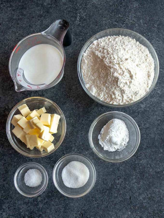 Ingredients for Southern Flaky Biscuits