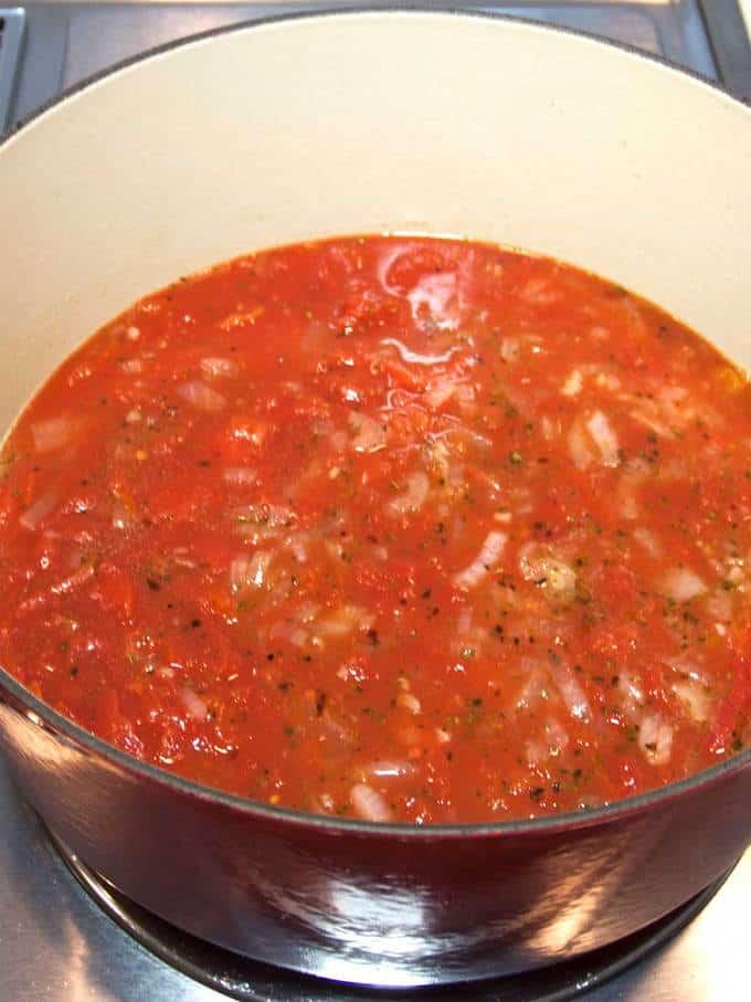 Tomato Sauce for Penne Alla Vecchia Bettola