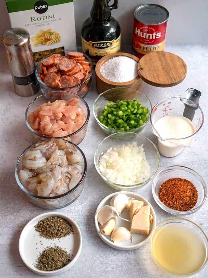 Ingredients Pasta Jambalaya