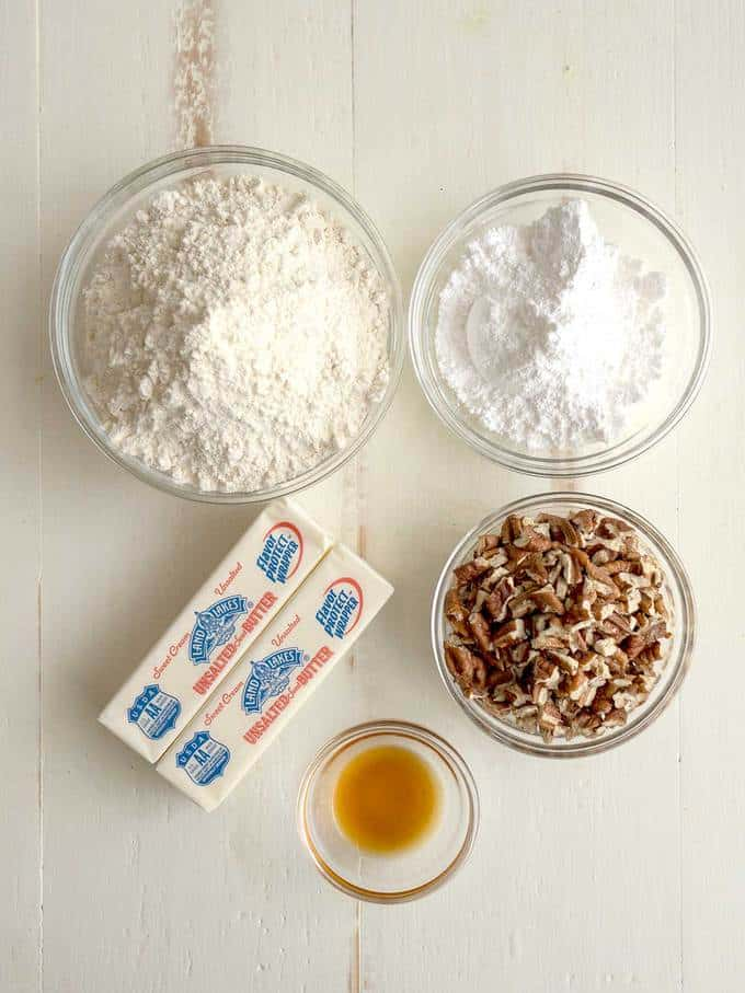 Ingredients for Pecan Shortbread