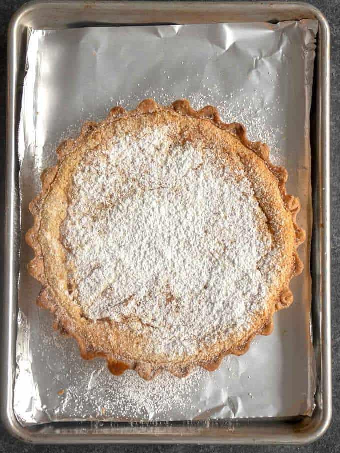 Julia Child's Tarte Normande aux Pommes Cooling