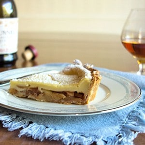 Tarte Normande aux Pommes (Julia Child's Custard Apple Tart)