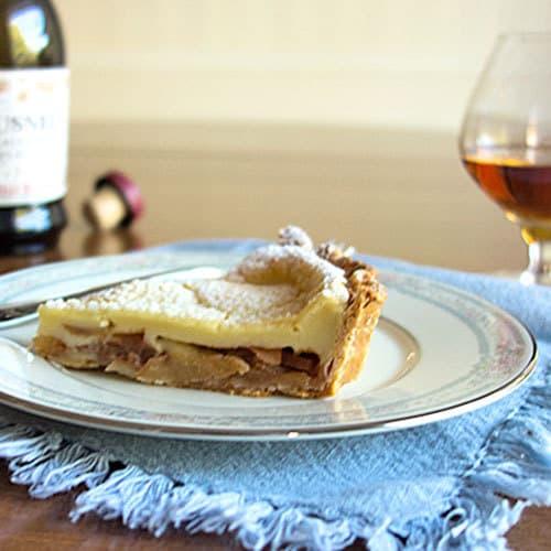 tarte normande aux pommes julia child 39 s custard apple. Black Bedroom Furniture Sets. Home Design Ideas