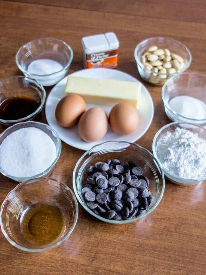 Ingredients for Reine de Saba