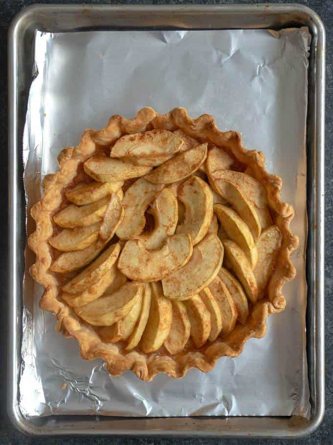 Tarte Normande Apples Out of Oven