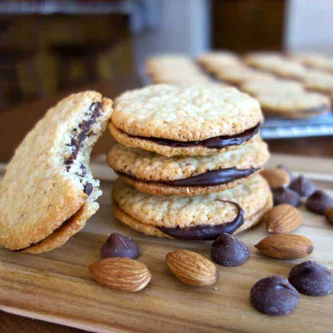 Almond Chocolate Sandwich Cookies