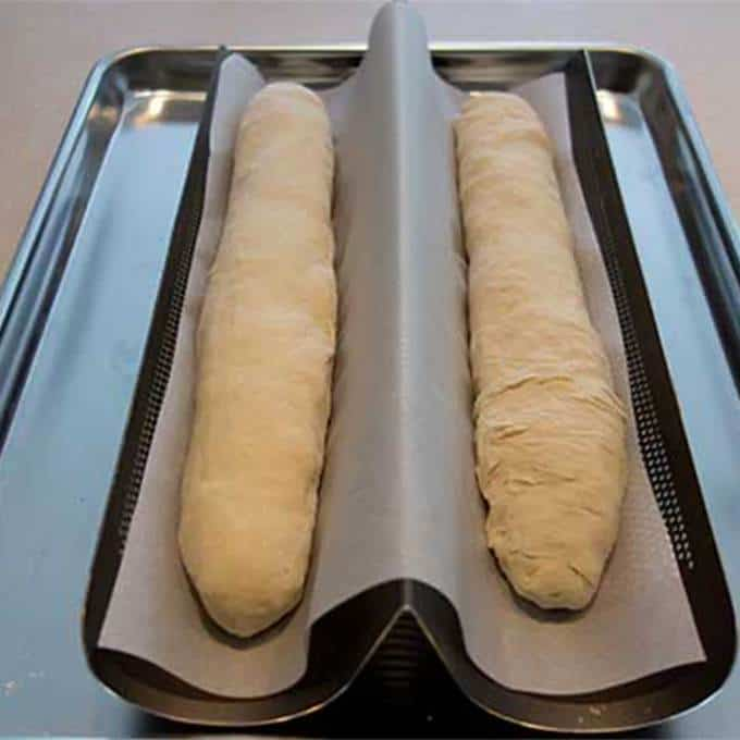 Shaped loaves in the pan