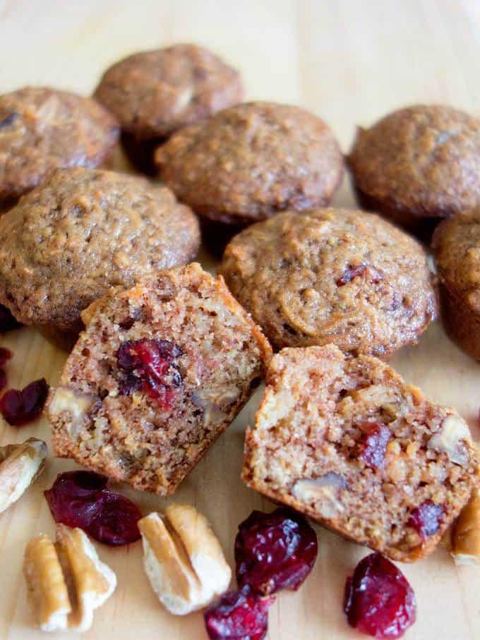 Carrot Apple Mini Muffins