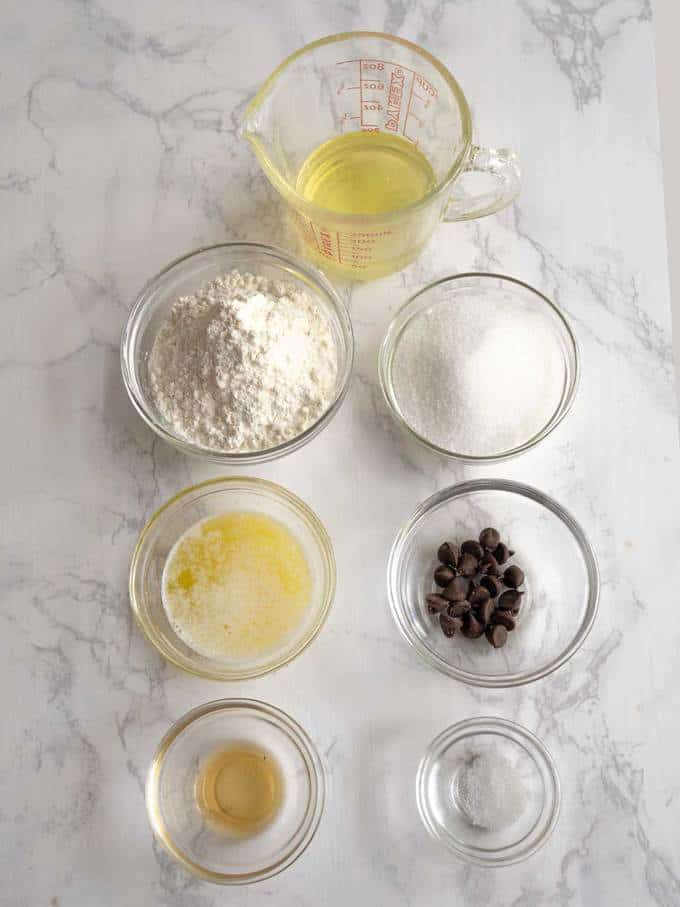 Ingredients for Homemade Waffle Cones