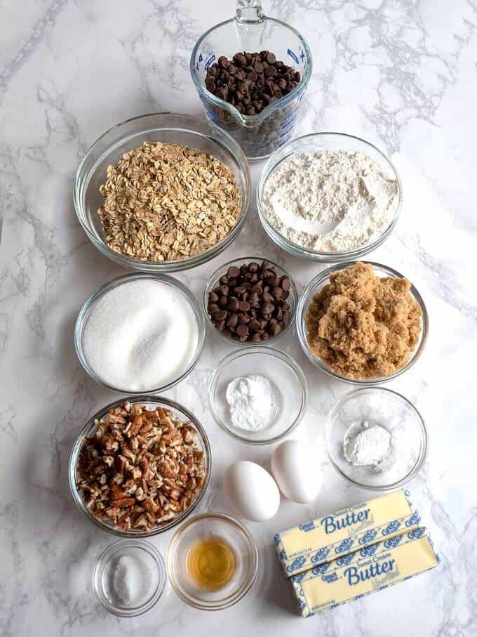 Ingredients for Neiman Marcus Cookies