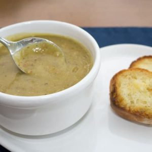 Split Pea Soup with Smoked Sausage (Pressure Cooker)