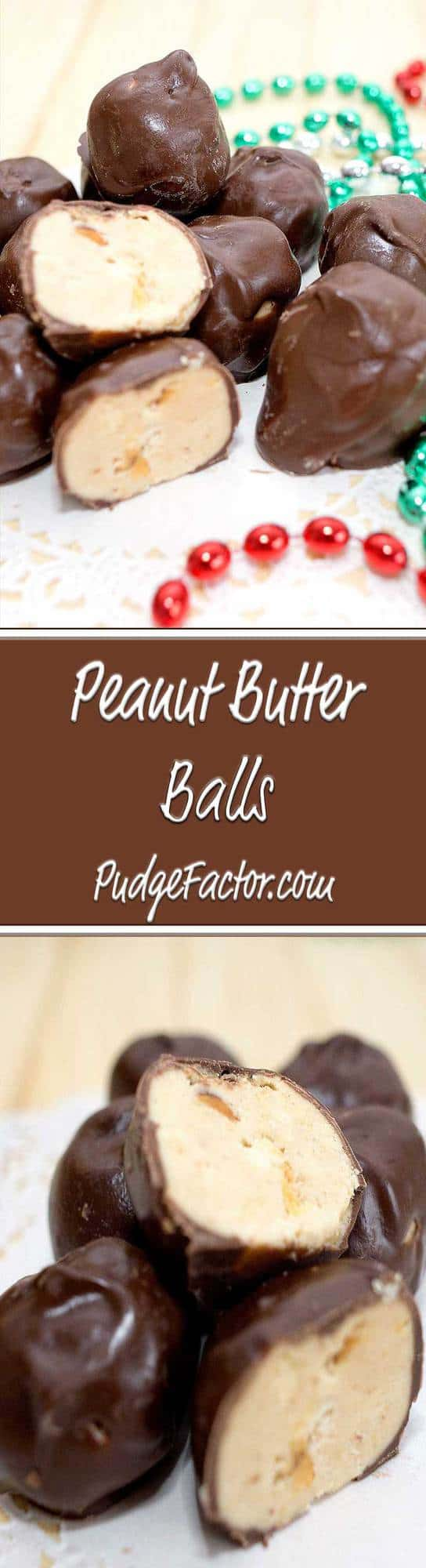 Peanut butter balls are the ultimate peanut butter and chocolate treat, and a perfect candy to make for the holidays!