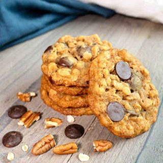 Chocolate Oatmeal Pecan Cookies