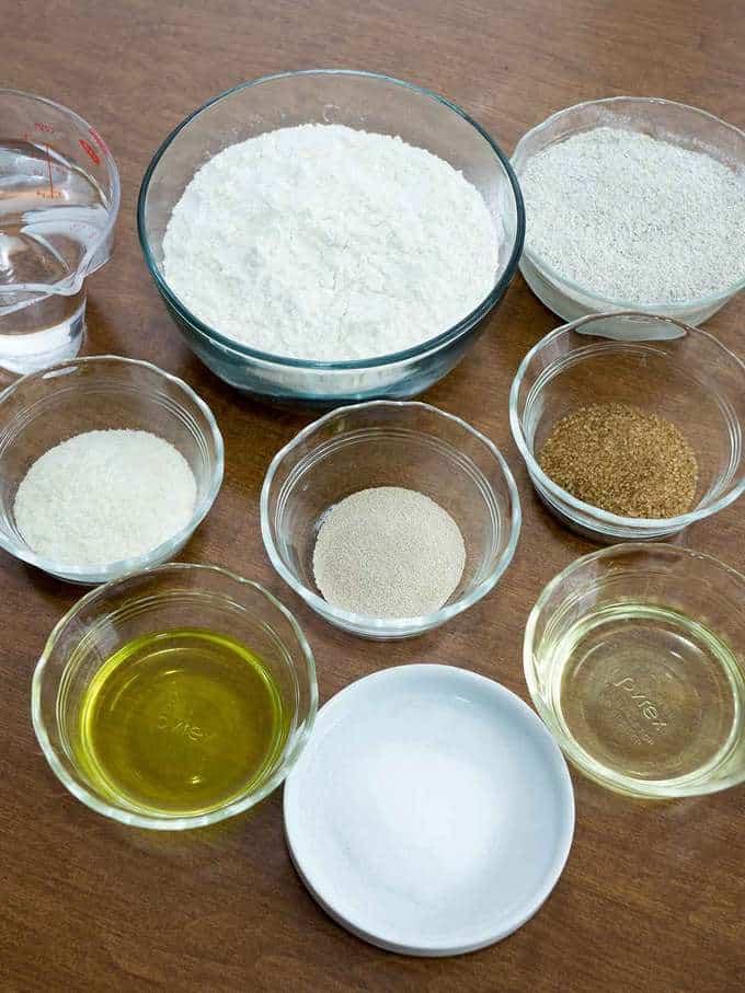Ingredients for Jewish Rye Bread