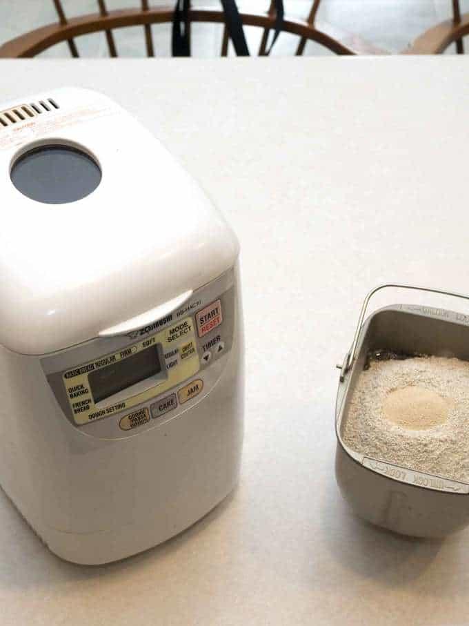 Jewish Rye Bread Ingredients in Bread Pan