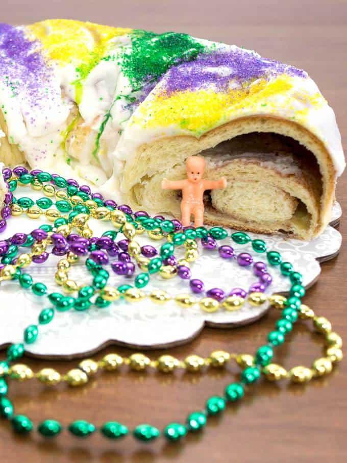 Mardi Gras King Cake (Bread Machine) - The Pudge Factor