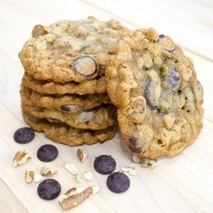 Chocolate Oatmeal Pecan Cookies