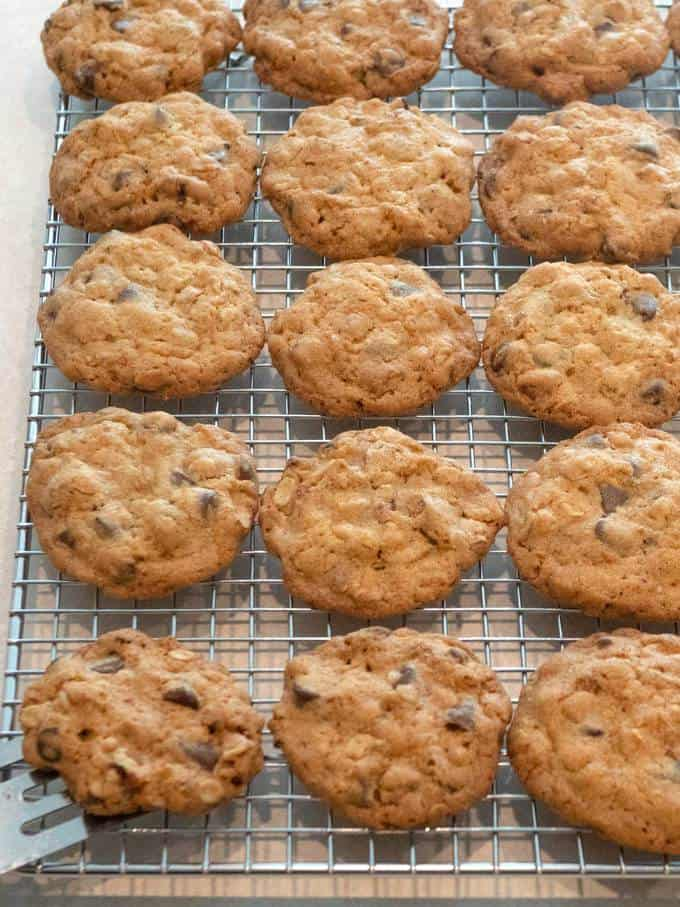 Cooling Cookies on Wire Rack