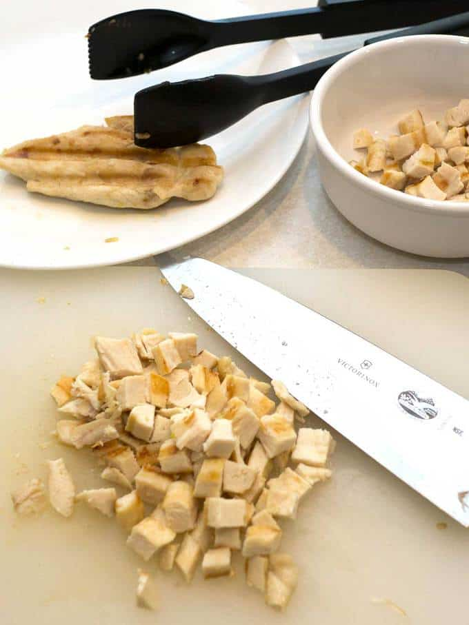Cut up Chicken for CPK Rosemary Chicken and Potato Pizza