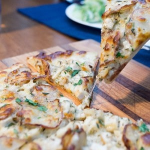 CPK Rosemary Chicken and Potato Pizza