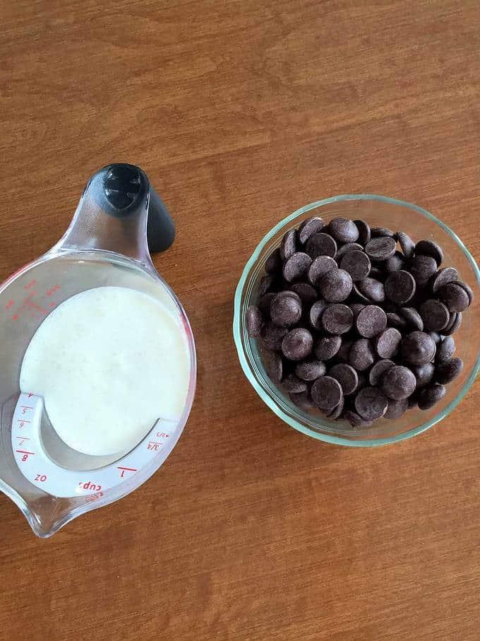 Ganache ingredients