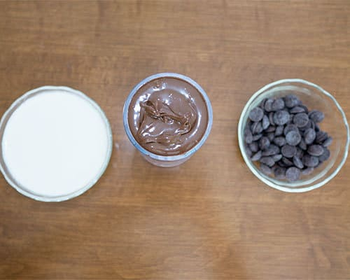 Nutella Mousse ingredients