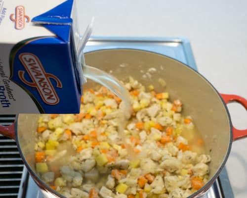 Adding Chicken Broth