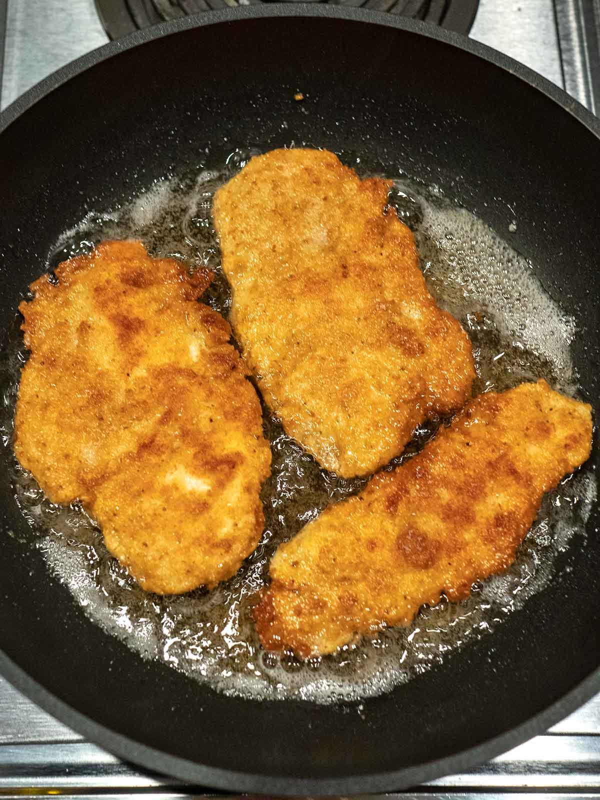 Chicken Schnitzel Cooking