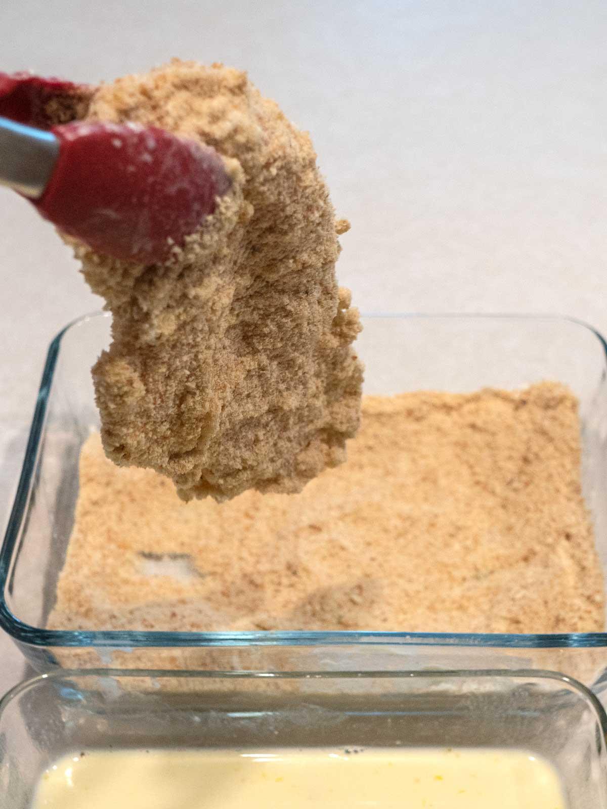 Coating Chicken in Bread Crumbs