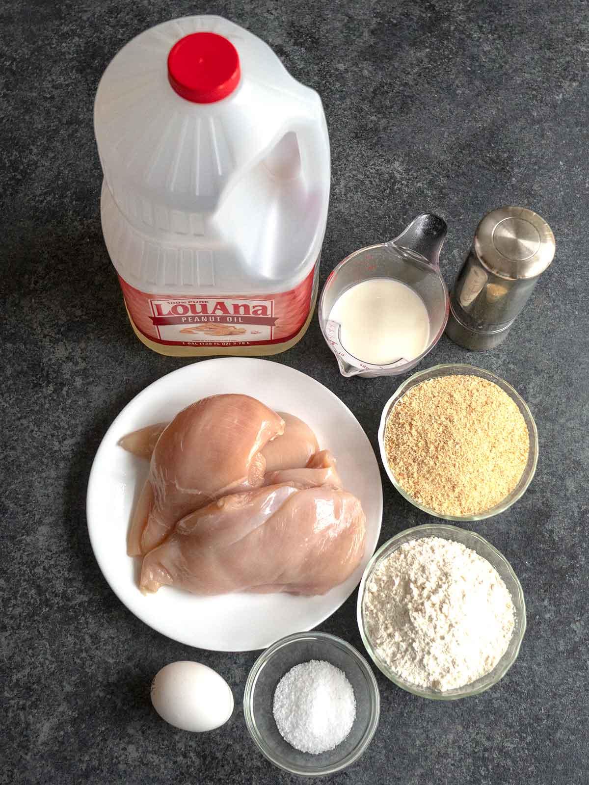 Ingredients for Chicken Schnitzel