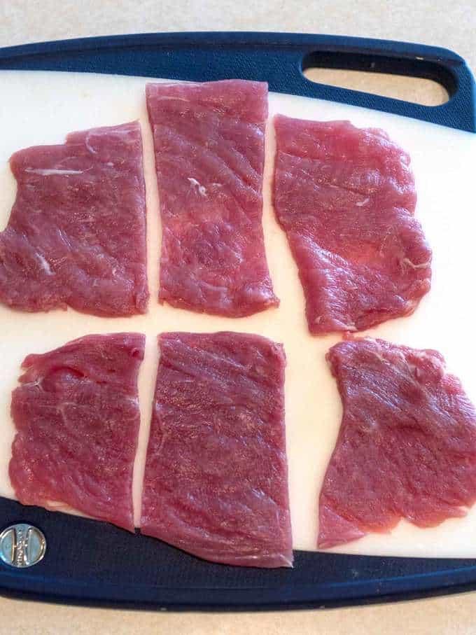 Pieces of Pork for Pork Milanese