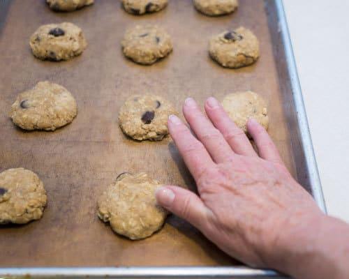 Flatening cookie