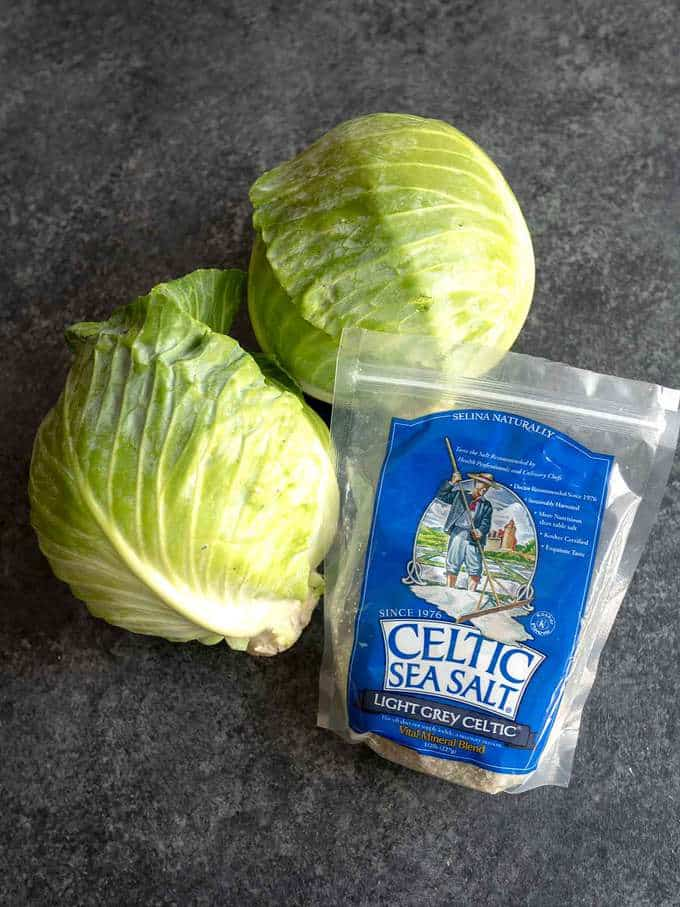 Ingredients for Homemade Sauerkraut