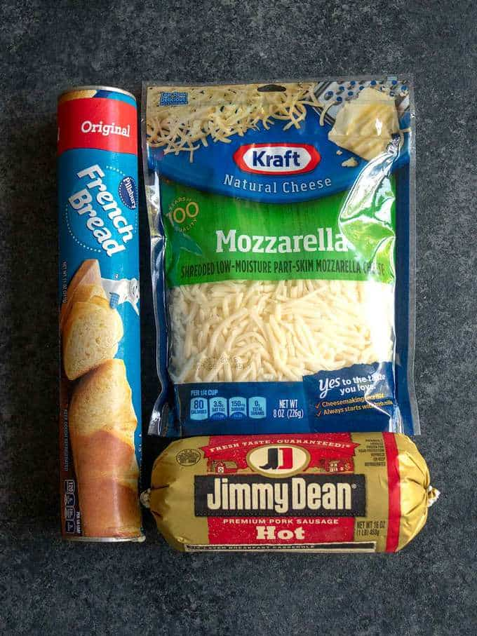 Ingredients for Sausage Bread