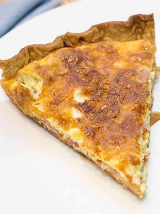 Ham and Gruyere Quiche