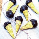 Chocolate Dipped Peanut Butter Bugles