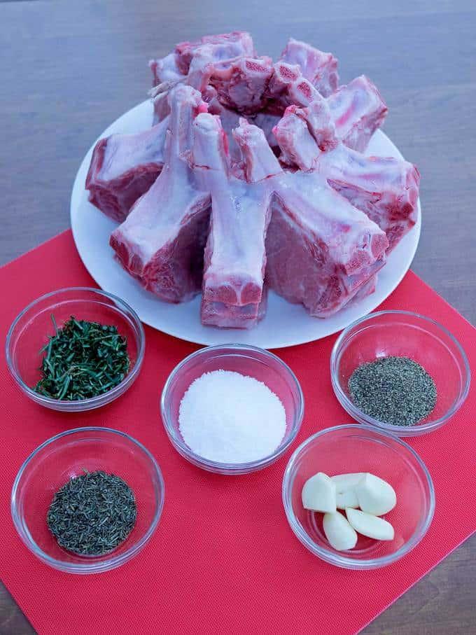 Ingredients for Crown Roast of Pork