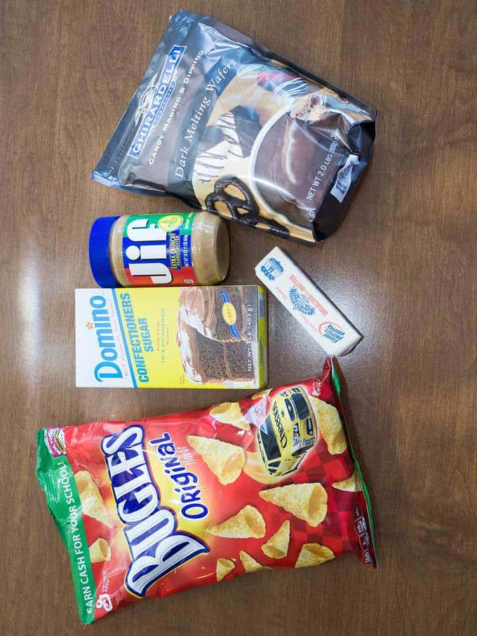 Chocolate-Dipped Peanut Butter Bugles