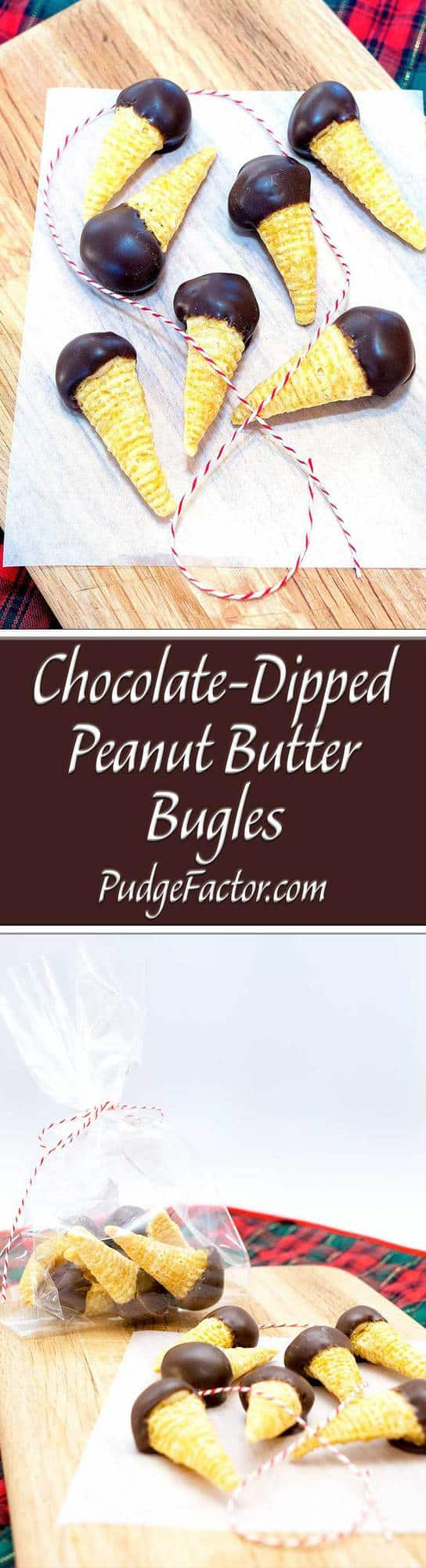 Every year about this time, I make peanut butter balls, and reserve some of the peanut butter mixture to make these delectable little morsels.