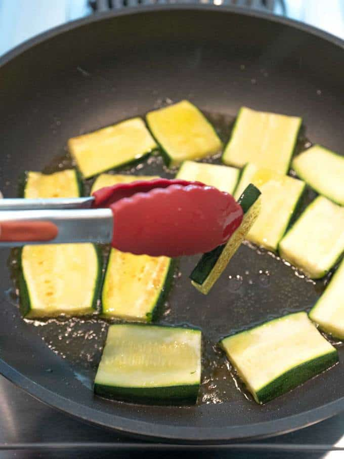 Cooking Zucchini for Ratatouille