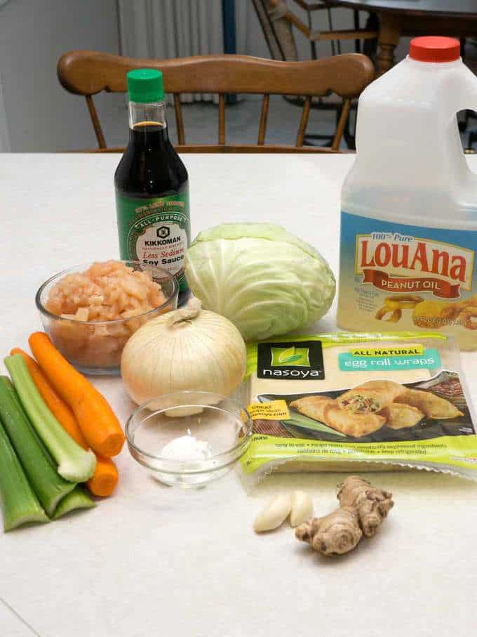 Ingredients for Egg Rolls