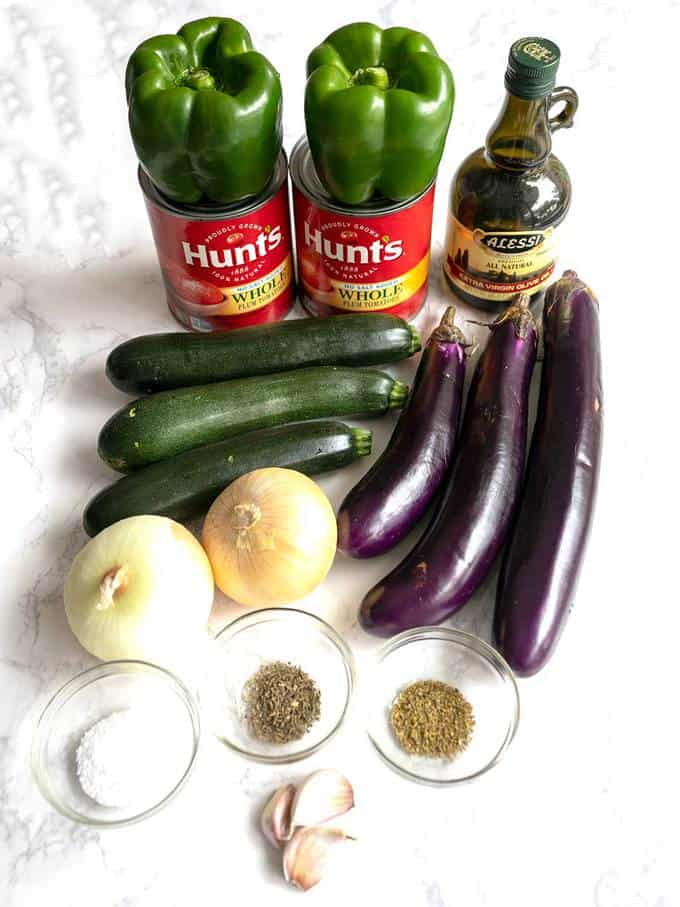 Ingredients for Ratatouille