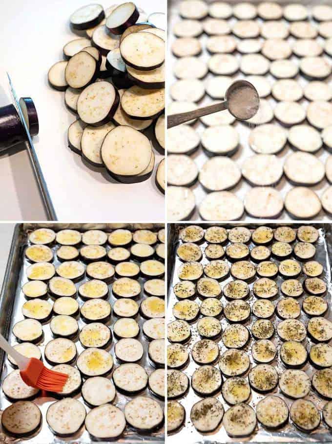 Preparing Eggplant for Ratatouille