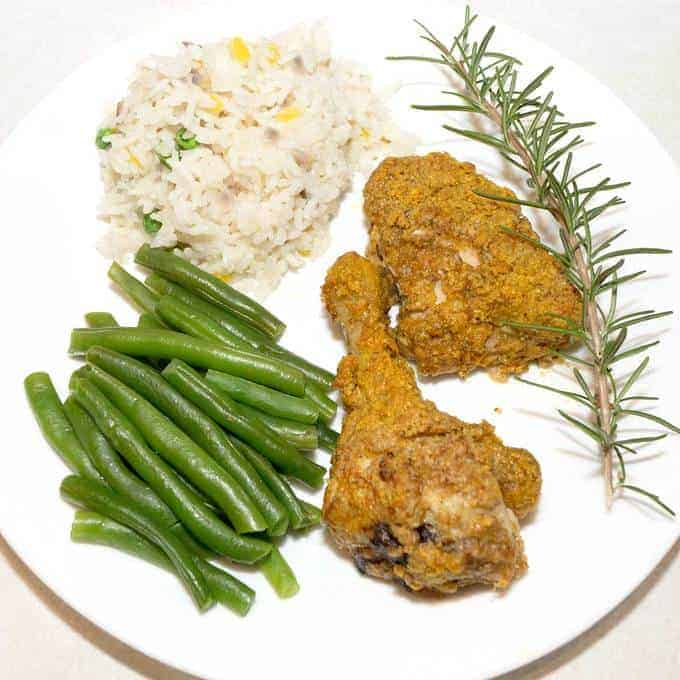 Baked Pecan Chicken with Mardi Gras Rice