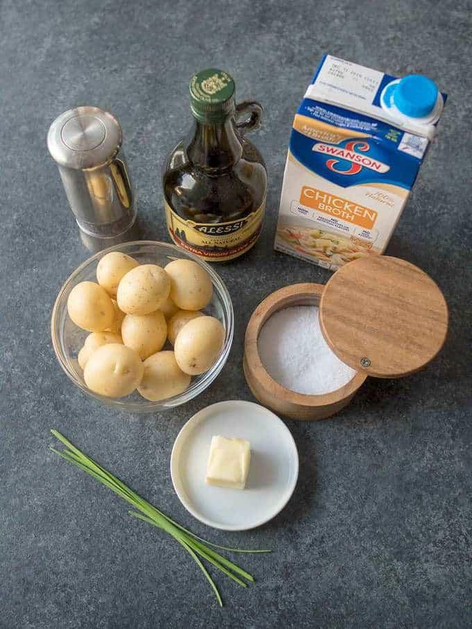 Ingredients for Melting Potatotes