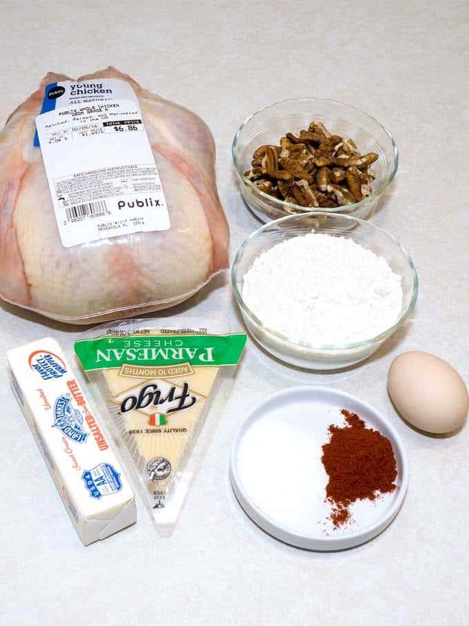 Pecan Chicken with Mardi Gras Rice