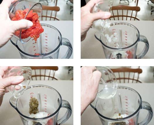 Adding Ingredients to blender