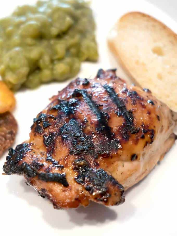 Grilled Honey Mustard Chicken Thighs Pudge Factor