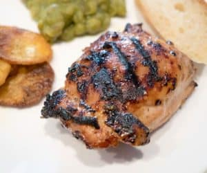Quick and easy grilled chicken with a creamy honey mustard basting sauce